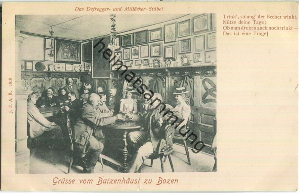Bozen - Batzenhäusl - Verlag Johann F. Amonn Bozen