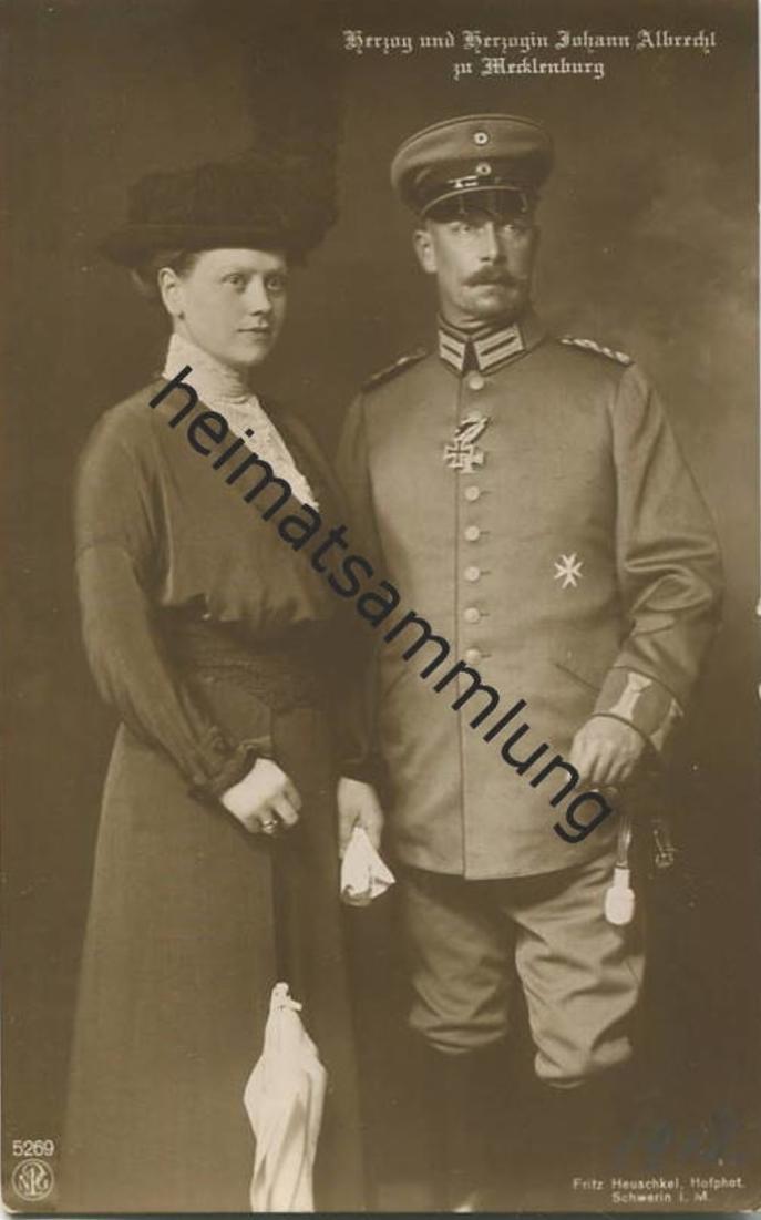 Herzog und Herzogin Johann Albrecht zu Mecklenburg - Verlag NPG 0