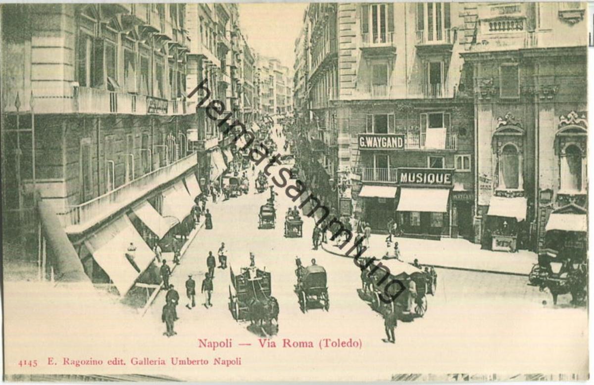 Napoli - Via Roma - Verlag E. Ragozino Napoli