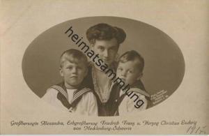 Grossherzogin Alexandra - Erbgroßherzog Friedrich Franz und Herzog Christian Ludwig von Mecklenburg-Schwerin - Zum Beste