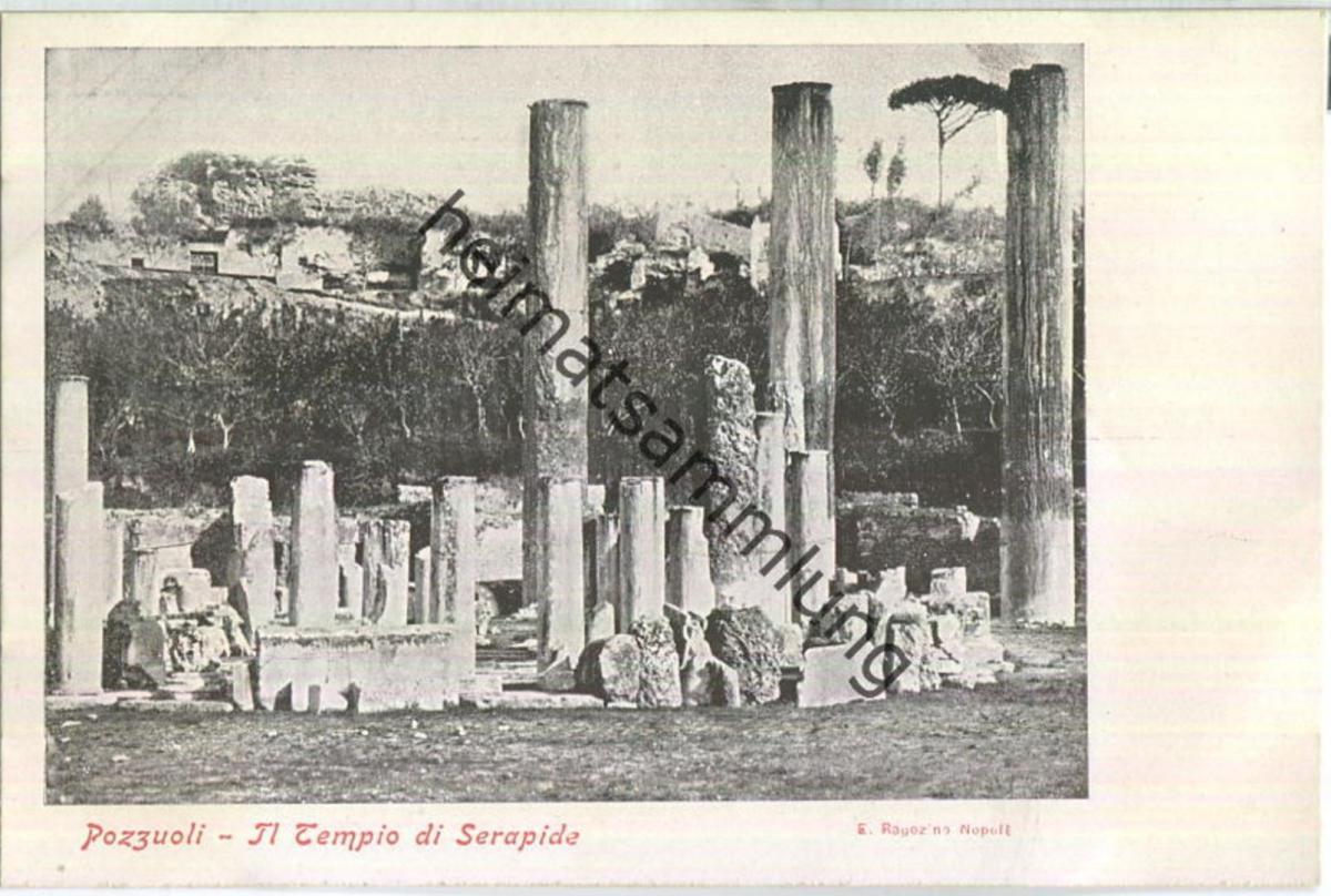 Pozzuoli - Il Tempio di Serapide - Verlag E. Ragozino Napoli