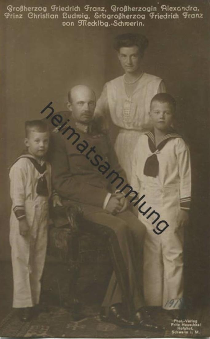 Großherzog Friedrich Franz Grossherzogin Alexandra Prinz Christian Ludwig Erbgroßherzog Friedrich Franz von Mecklenburg-
