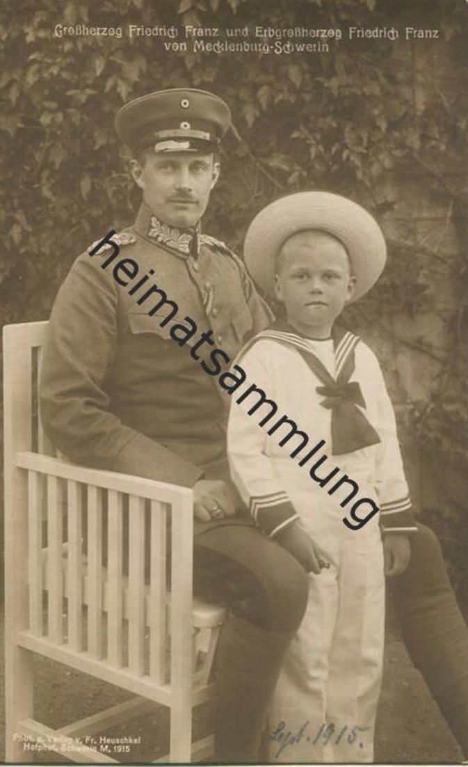 Großherzog Friedrich Franz und Erbgroßherzog Friedrich Franz von Mecklenburg-Schwerin - Verlag Fritz Heuschkel Schwerin