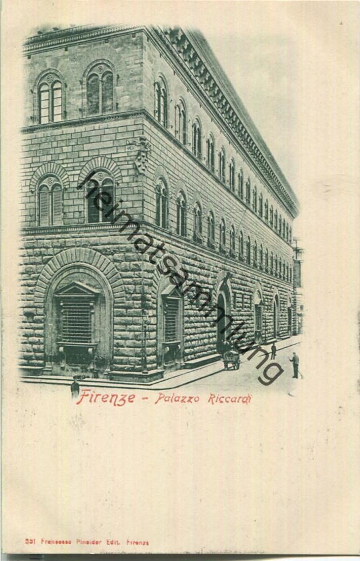 Firenze - Palazzo Riccardi - Verlag Franceco Pineider Firenze