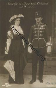 Österreich - Thronfolger Carl Franz-Josef von Oesterreich mit Gemahlin - Verlag Gustav Liersch & Co. Berlin