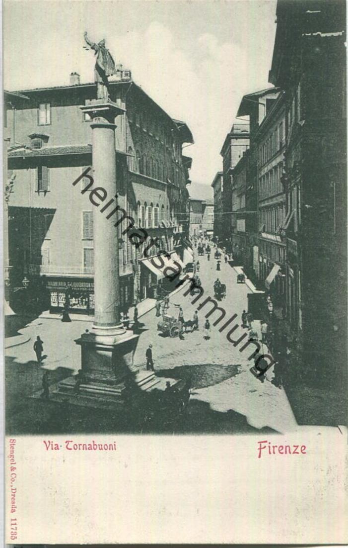 Firenze - Via Tornabuoni - Verlag Stengel & Co Dresden