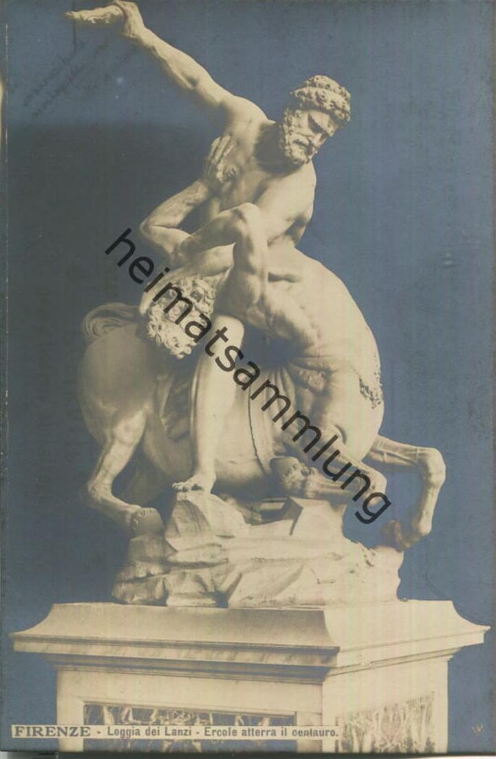 Firenze - Loggia dei Lanzi - Ercole atterra il centauro