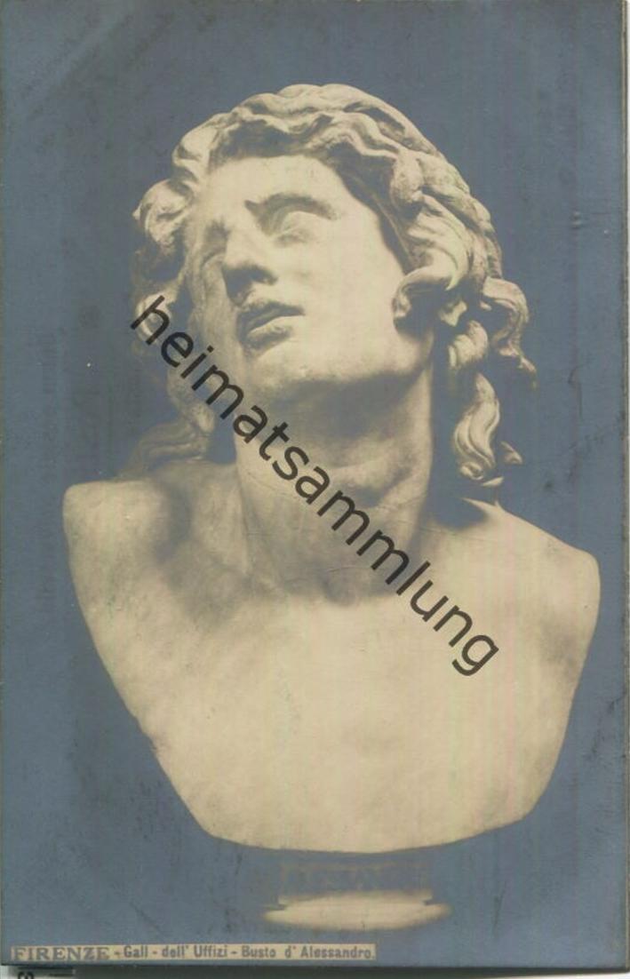 Firenze - Galleria dell' Uffizi. - Busto d'Alessandro