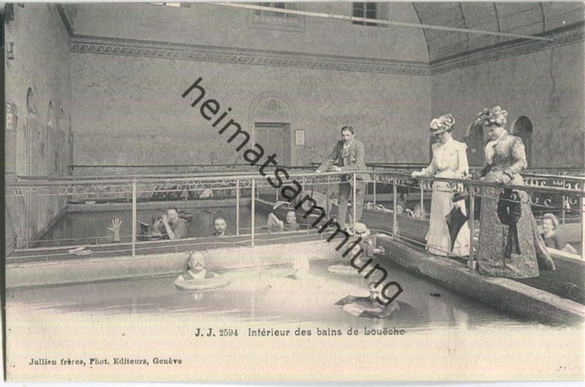 Leukerbad - Loueche - Interieur des bains - Verlag Jullien freres Geneve