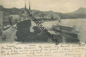 Luzern - Promenade gel. 1905