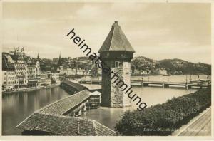Luzern - Kapellbrücke und Wasserturm - Verlag E. Goetz Luzern