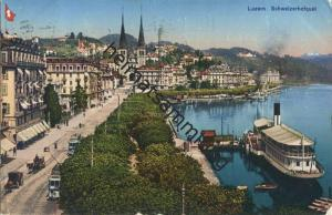 Luzern - Schweizerhofquai - XII. Schweizerischer Abstinententag Luzern 1923 - Globetrotter AG Kunstverlag Luzern gel. 19