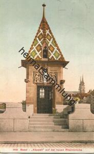 Basel - Käppeli auf der neuen Rheinbrücke - Edition Photoglob Co. Zürich
