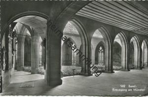 Basel - Kreuzgang am Münster - Foto-AK - Verlag Gebr. Frey Basel gel. 1955