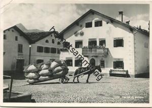 Scuol - Schuls - Dorfpartie mit Pferdefuhrwerk - Foto-AK Grossformat - Verlag Feuerstein Schuls gel. 1952