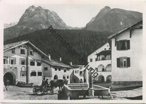 Scuol - Schuls - Dorfpartie - Foto-AK Grossformat - Verlag Feuerstein Schuls gel. 1944