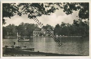 München - Kleinhesseloher See - Foto-Ansichtskarte - Verlag M. Saidle München