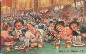 München - Oktoberfest - signiert E. Schlemo
