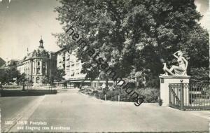 Chur - Postplatz und Eingang zum Kunsthaus - Foto-AK - Verlag Foto-Gross St. Gallen - gel. 1959
