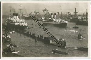 Hamburg - Ausreise - Schiffe - Foto-Ansichtskarte
