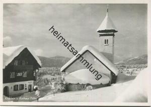 Fidaz - Kirche und Kurhaus - Foto-AK Grossformat - Verlag Max Baiter Fidaz