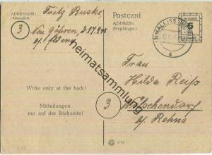 Bedarfskarte mit Abgangsstempel Mallis - gebraucht am 17.09.1945 aus Mallis nach Wölschendorf