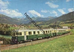 Bodensee Toggenburg Bahn - Vierteiliger Pendelzug bei Nesslau Neu St. Johann - AK Grossformat - Verlag J. Kleiner Bern -