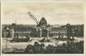 Nürnberg - Hauptbahnhof - Foto-Ansichtskarte - Verlag Liebermann & Co Nürnberg