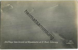 Derfflinger - Torpedoboote - U-Boot-Sicherung - Foto-AK - Verlag F. Finke Wilhelmshaven