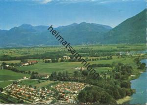 Tenero am Lago Maggiore - Camping T.C.S. - Luftaufnahme - AK Grossformat - Verlag Photoglob-Wehrli Zürich gel. 1