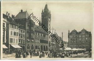 Basel - Marktplatz - Foto-Ansichtskarte - Verlag Xaver Frey Basel