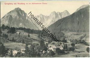 Königsberg und Wischberg von der Schlitzabrücke (Tarvis) - Verlag Stengel & Co. GmbH Dresden 1903