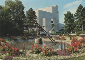 St. Gallen - AK Grossformat - Stadttheater und Stadtpark - Verlag E. Baumann Winterthur gel. 1968