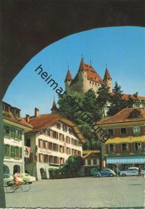 Thun - Blick aufs Schloss - AK Grossformat gel. 1966