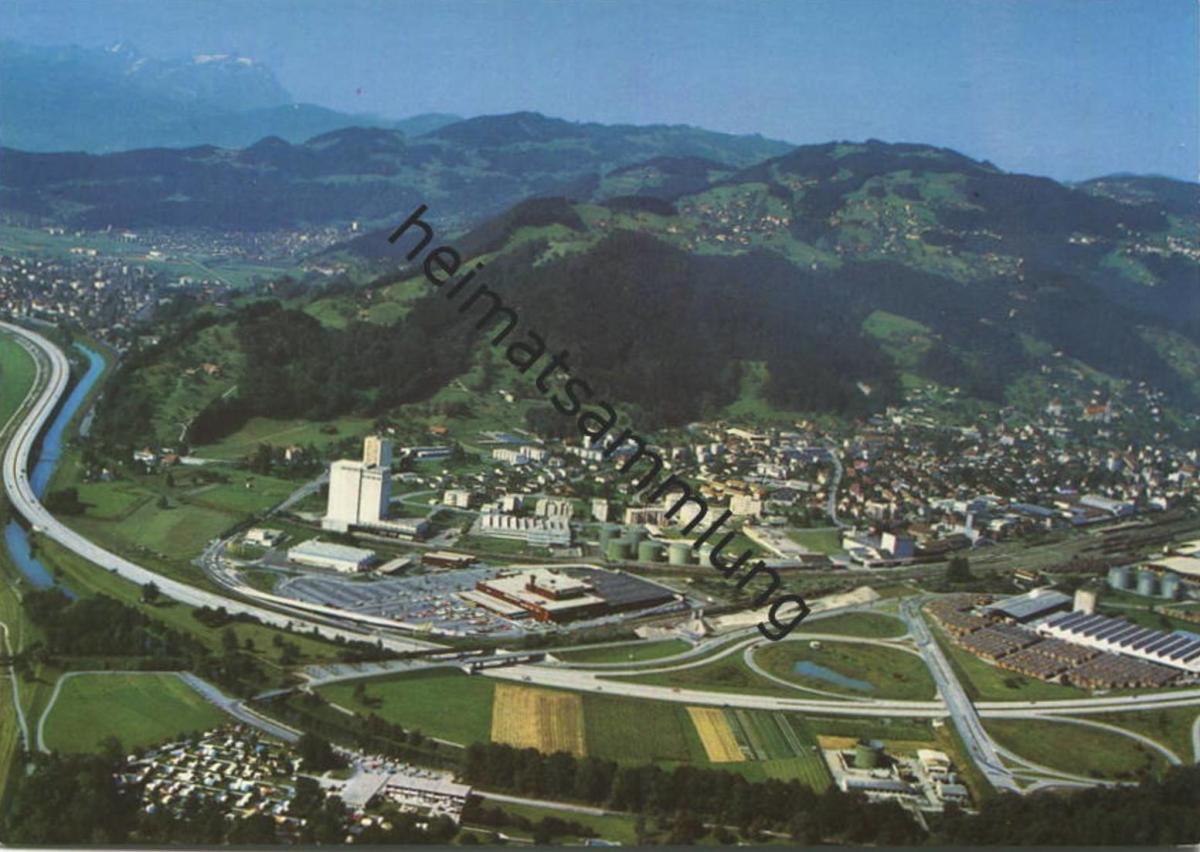 St. Margrethen - Flugaufnahme - AK Grossformat - Verlag Foto-Gross St. Gallen 0