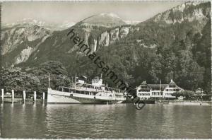 Brienz Schiffstation und Hotel Kreuz - Dampfer Lötschberg - Verlag H. C. Maeder Brienz