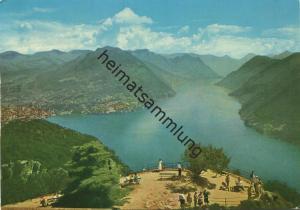 Lugano - Panorama dal S. Salvatore - Edizioni ARC-EN-CIEL Lugano - Rückseite beschrieben 1966