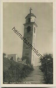 Schiefer Turm in St. Moritz - Foto-Ansichtskarte 20er Jahre - Wehrliverlag Kilchberg
