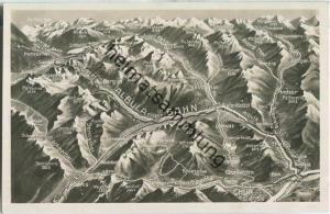 Albula-Bahn - Reliefkarte - Edition Photoglob Zürich 20er Jahre