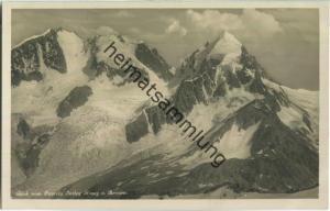 Blick vom Fourcla auf Surley Roseg und Bernina - Foto-Ansichtskarte 20er Jahre - Wehrliverlag Kilchberg