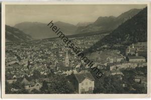 Chur - Gesamtansicht - Foto-Ansichtskarte 20er Jahre - Edition Photoglob Zürich