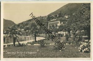 Locarno - Hotel Beau Rivage et d'Angleterre - Foto-Ansichtskarte 20er Jahre - Edition Phot. A. Ryffel Zürich