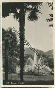 Lugano - Giardini - Foto-Ansichtskarte 20er Jahre - Eredi Alfredo Finzi Lugano