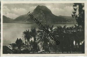 Lugano col Monte San Salvatore visto da Castagnola - Editore Ditta G. Mayr Lugano 20er Jahre