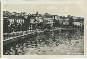Lugano - Quai - Edit. Contoli & Bernasconi Lugano 20er Jahre