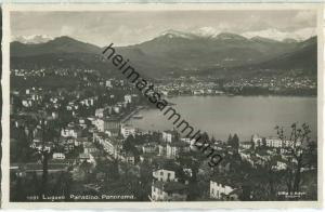 Lugano - Paradiso - Panorama - Foto-Ansichtskarte - Edit. Ditta G. Mayr Lugano 20er Jahre