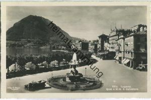 Lugano - Quai e Monte San Salvatore - Foto-Ansichtskarte - Edit. Ditta G. Mayr Lugano 20er Jahre