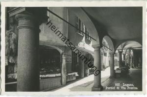Lugano - Portici di Via Pessina - Foto-Ansichtskarte 20er Jahre - Eredi Alfredo Finzi Lugano