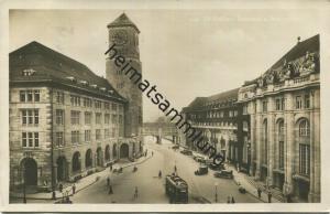 St. Gallen - Bahnhof und Postgebäude - Foto-AK - Verlag Hans Gross St. Fiden gel. 1933