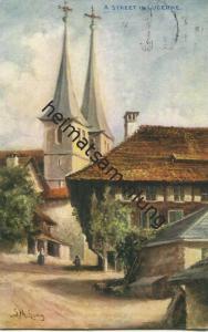 Luzern - Künstlerkarte - gel. 1909